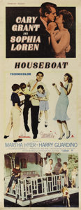 "Movie Posters:Comedy, Houseboat (Paramount, 1958). Insert (14"" X 36""). Cary Grant and Sophia Loren star in this cute romantic comedy. A widower st..."