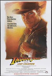 "Indiana Jones and the Last Crusade (Paramount, 1989). One Sheet (27"" X 41""). Although he's only 12 years older..."