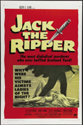 "Movie Posters:Mystery, Jack the Ripper (Paramount, 1960). One Sheet (27"" X 41""). Backed bya massive advertising campaign, this film that moves the..."
