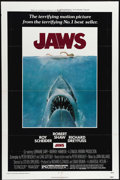 """Movie Posters:Horror, Jaws (Universal, 1975). One Sheet (27"""" X 41""""). Novelist Peter Benchley argued so much with director Steven Spielberg about e..."""