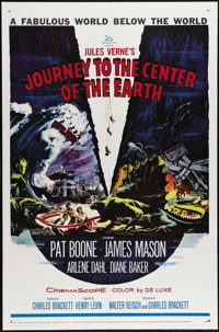 """Journey to the Center of the Earth (20th Century Fox, 1959). One Sheet (27"""" X 41""""). James Mason stars as Profe..."""