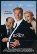 "Movie Posters:Comedy, Junior (Universal, 1994). One Sheet (27"" X 41""). Before he was the governor who raised the ire of maternity room nurses all ..."