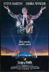 """Leap of Faith (Paramount, 1992). One Sheet (27"""" X 41""""). Steve Martin shines as a sleazy evangelist in this gre..."""
