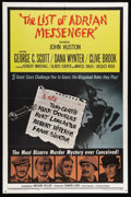 "Movie Posters:Mystery, The List of Adrian Messenger (Universal, 1963). One Sheet (27"" X41""). George C. Scott, Dana Wynter and Clive Brook star in ..."