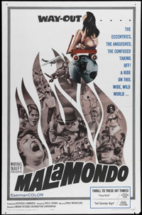 """Malamondo (Magna, 1964). One Sheet (27"""" X 41""""). Marvin Miller narrates this documentary about strange practice..."""