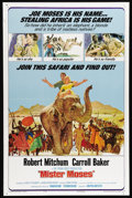 "Movie Posters:Adventure, Mister Moses (United Artists, 1965). One Sheet (27"" X 41""). RobertMitchum plays a confidence man named Moses, whose moniker..."