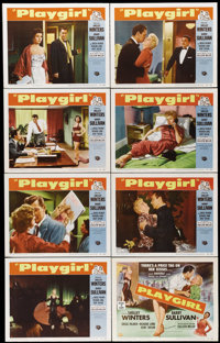 """Playgirl (Universal International, 1954). Lobby Card Set of 8 (11"""" X 14""""). If you remember Shelley Winters fro..."""