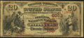 National Bank Notes:Pennsylvania, Pittsburg, PA - $20 1882 Brown Back Fr. 504 The Federal NB Ch. #(E)6023. ...