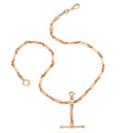 Estate Jewelry:Other, Gold Watch Chain and Fob. . ...