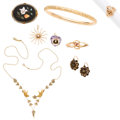 Estate Jewelry:Lots, Victorian Diamond, Multi-Stone, Seed Pearl, Gold, Gold-Filled Jewelry. . ... (Total: 9 Items)
