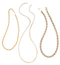 Estate Jewelry:Necklaces, Victorian Gold Necklaces. ... (Total: 3 Items)