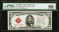 Small Size:Legal Tender Notes, Fr. 1529 $5 1928D Legal Tender Note. PMG Gem Uncirculated 66 EPQ.. ...