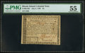 Colonial Notes:Rhode Island, Rhode Island July 2, 1780 $4 PMG About Uncirculated 55.. ...