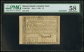 Colonial Notes:Rhode Island, Rhode Island July 2, 1780 $7 PMG Choice About Unc 58.. ...