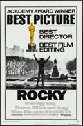 "Movie Posters:Academy Award Winners, Rocky (United Artists, 1977). One Sheet (27"" X 41"") Academy AwardsStyle B, & Program (4 Pages, 9"" X 12""). Academy Award Win...(Total: 2 Items)"