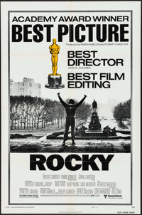 """Rocky (United Artists, 1977). One Sheet (27"""" X 41"""") Academy Awards Style B, & Program (4 Pages, 9"""" X..."""