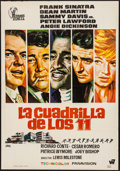 "Movie Posters:Crime, Ocean's 11 (Hispanmex Films, R-1970s). Spanish One Sheet (27.5"" X39.5""). Crime.. ..."