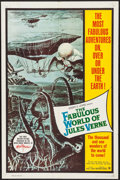 "Movie Posters:Fantasy, The Fabulous World of Jules Verne (Warner Brothers, 1961). One Sheet (27"" X 41"") & Lobby Card Set of 8 (11"" X 14""). Fantasy.... (Total: 9 Items)"