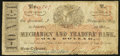 Obsoletes By State:Louisiana, New Orleans, LA- James Cosgrove at Mechanics and Traders Bank $1 Jan. 31, 1862. ...