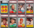 Baseball Cards:Sets, 1963 Topps Baseball Near Set (567/576) With 101 Graded Cards. ...