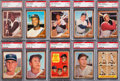 Baseball Cards:Sets, 1962 Topps Baseball Complete Set (598) With 225 Graded Cards. ...