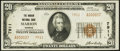 National Bank Notes:Kansas, Marion, KS - $20 1929 Ty. 2 The Marion NB Ch. # 7911. ...