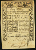 Colonial Notes:Rhode Island, Rhode Island May 1786 40s About New.. ...