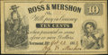 Obsoletes By State:Illinois, Vermont, IL- Ross & Mershon 10¢ Oct. 23, 1862...