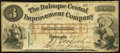 Obsoletes By State:Iowa, Dubuque, IA- Dubuque Central Improvement Company $3 Dec. 9, 1857....