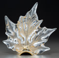 Art Glass:Lalique, Lalique Clear and Frosted Glass Champs Elysees Sconce. Late20th century. Engraved Lalique, France. Ht. 11-3... (Total:3 Items)