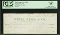 Obsoletes By State:Nevada, Virginia City, Nevada Territory- Wells, Fargo & Co. Check $25.00 Dec. 15, 1862. ...