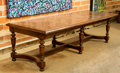 Furniture : Continental, An Italian Renaissance-Style Oak Parquetry Refectory Table, 19thcentury. 29 h x 104 w x 39 d inches (73.7 x 264.2 x 99.1 cm...