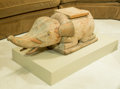Paintings, An Asian Carved Wood Elephant Figure on Plinth. 17-1/2 h x 20-1/4 w x 37 d inches (44.5 x 51.4 x 94.0 cm). ...