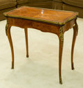 Furniture : French, A Louis XV-Style Gilt Bronze Mounted Marquetry Games Table, early20th century. 30 h x 32 w x 17 d inches (76.2 x 81.3 x 43....