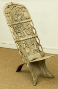 Furniture , An African Carved Wood Dogon Chair, late 20th century. 41 h x 17 w x 14 d inches (104.1 x 43.2 x 35.6 cm). ...