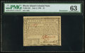 Colonial Notes:Rhode Island, Rhode Island July 2, 1780 $1 PMG Choice Uncirculated 63.. ...