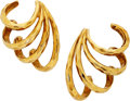 Estate Jewelry:Earrings, Gold Earrings, Henry Dunay. . ... (Total: 2 Items)