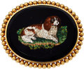Estate Jewelry:Brooches - Pins, Hardstone Micromosaic, Gold Brooch, French. ...