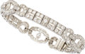 Estate Jewelry:Bracelets, Diamond, Platinum Bracelet, circa 1930. ...