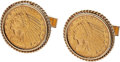 Estate Jewelry:Cufflinks, Gold Coin, Gold Cuff Links. . ... (Total: 2 Items)
