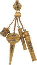 Estate Jewelry:Chatelaines, Gilt, Silver Chatelaine. ...
