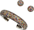 Estate Jewelry:Suites, Multi-Color Sapphire, Sterling Silver Jewelry Suite, MichaelCampbell Laurenza. ... (Total: 3 Items)