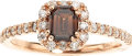 Estate Jewelry:Rings, Colored Diamond, Diamond, Pink Gold Ring. ...