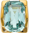 Estate Jewelry:Rings, Aquamarine, Gold Ring. ...