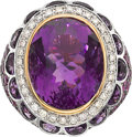 Estate Jewelry:Rings, Amethyst, Pink Sapphire, Diamond, White Gold Ring, Zorab. ...