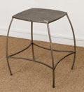Furniture , A Modern Forged and Coated Steel Side Table, early 21st century. 25 h x 22 w x 18 d inches (63.5 x 55.9 x 45.7 cm). ...