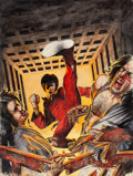 Original Comic Art:Covers, Malcolm McNeill Deadly Hands of Kung Fu #26 Cover PaintingOriginal Art (Marvel, 1976)....