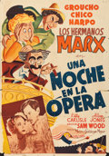 """Movie Posters:Comedy, A Night at the Opera (MGM, 1936). Spanish One Sheet (27.5"""" X 39"""")Al Hirschfeld Artwork.. ..."""