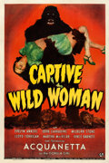 "Movie Posters:Horror, Captive Wild Woman (Universal, 1943). One Sheet (27"" X 41"").. ..."