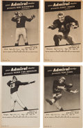 Football Cards:Sets, 1950 Los Angeles Rams Admiral Dealers Promo Cards Partial Set (22/35). ...